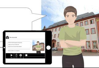 Screenshot des Lernprogramm für Stadtführungen