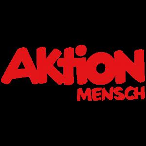 Logo der Aktion Mensch. Rote Schrift auf weissem Grund.